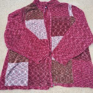 Liz & Me Zip Up Sweater sz 26/28 3x